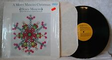 HENRY MANCINI MERRY MANCINI CHRISTMAS LP RCA HIS FIRST ALBUM OF CHRISTMAS MUSIC