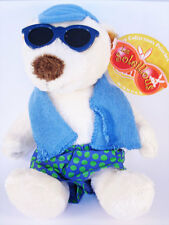 OURSON Blanc avec habits bleus - Gipsy - Les Soleillous