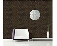 3m * Wood Mosaic Tiles 3D Effect Sheet Self Adhesive Peel-Stick Wallpaper H504