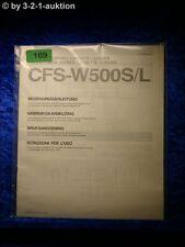 Sony Bedienungsanleitung CFS W500S / W500L Cassette Corder (#0169)