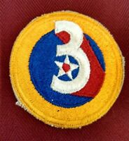 Original WW2 USAAF Shoulder Patch WWII Army Air Force 3rd Division 3 Star Red