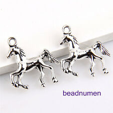 15Pcs zinc alloy horse pendants 22x22mm 1A928