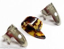 Banjo Pick Set Dr Sherpa Banjo Pickers Nickel Steel Finger x 2 Thumb Pick x 1