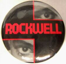Rockwell - Motown - Somebody'S Watching Me Promo Pinback Button [1984] - Nm