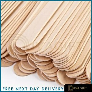 100 SPATULAS PROFESSIONAL DISPOSABLE WOODEN WAXING WAX STICKS PLUS