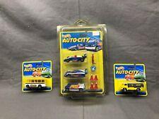 Hot Wheels 1994 Auto-City Race Team 3 Set & Hertz Van & More Rare 1 Of A Kind