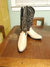 Sheplers Leather Gator Stamp Vamp/Manmade shafts Boots 10.5D