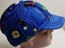CONTE OF FLORENCE HAT VINTAGE ELMER THERMAL PADDED CAP PUFFER BLUE EAR FLAP 59