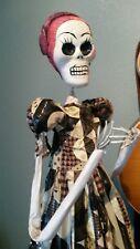 "Amazing 22"" size day of the dead KATRINA Paper Mache doll figurine SCULPTURE"