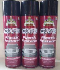 3 Cristal GX-3 Plastic Restorer Spray Cans 14oz ea Conditioner & UV Protectant
