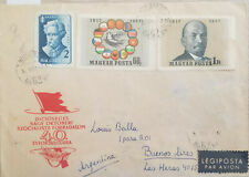 J) 1957 HUNGARY, DOVE, FLAGS, LENIN, ILLUSTRATED PEOPLE, MULTIPLE STAMPS, AIRMAI