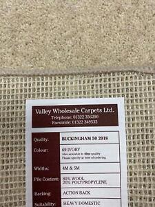 80/20 Wool carpet, 50oz. 6 x 4m