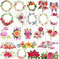 DMC Floral Flower Cross Stitch Pattern Designs Kits 14 Counted Chart PDF