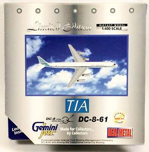 GeminiJets GJTVA102 Trans International TIA DC-8-61 'N8961T' 1/400 Scale Model