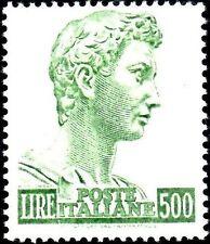 1969 Italia Repubblica San Giorgio 500 14x131/4 Sass. 810A-I MNH**