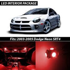 2003-2005 Dodge Neon SRT4 Red Interior LED Lights Package Kit