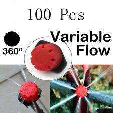 100pcs Adjustable Micro Drip Irrigation Watering Anti-clogging Emitter Drippers