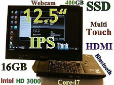 ThinkPad X220 12.5 TABLET IPS Core-i7 (400GB-SSD 16GB) MultiTouch Webcam BT HDMI