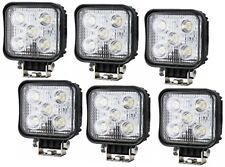 6 x WORK LAMP LIGHT FLOOD BEAM LED COMPACT SUPER BRIGHT  SQUARE 10-36V 1000 LM