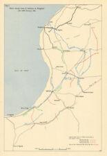 Axis advance to Benghazi 21-28 January 1942. Libya. Desert War. WW2 1960 map