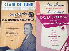 Organ Music Books:  Hammond Organ Solos; Clair de Lune; Gently Swing Classics