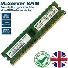 1GB 2GB Memory RAM 4 Micro Servers PC2-5300E DDR2 667MHz 240 ECC Unbuffered Lot