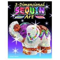 KSG Sequin Art 3D Elephant