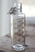 """Soulbottle """"Flower of Life/Flower of Life"""" Drinking Bottle Glass Without Plastic"""