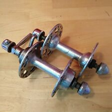 Vintage Normandy Alloy bicycle rear 36h high flange road hub English thread NOS