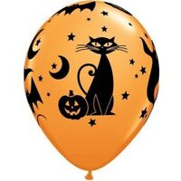 "11""(28CM) LATEX BALLOON PRINT FUN & SPOOKY ICONS PACK OF 50 QUALATEX BALLOONS..."