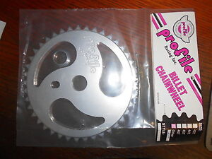 NOS Profile RIPSAW  41 T Sprocket SILVER BMX Chainwheel Old Mid School Billet