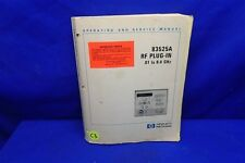 HP 83525A RF PLUG-IN OPERATING & SERVICE MANUAL