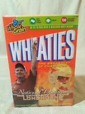 Wheaties Texas Longhorns 2005 National Champions Unopened Cereal Box Mack Brown