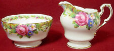 PARAGON china TAPESTRY ROSE white MINI CREAMER and OPEN SUGAR BOWL Set
