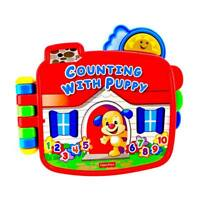 Fisher Price Laugh & Learn Counting With Puppy electronic Book toys lights sound