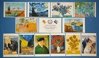 Beautiful Set of 12 NEW Vincent Van Gogh Art Paintings Postcards Prints 72K