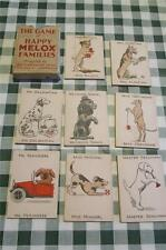 """RARE Melox advertising """" HAPPY DOGS """"  Happy Families Playing Cards - Boxed VGC"""