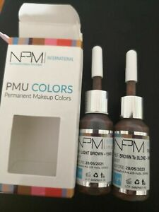 PMU 15037 dark Brown Pigment 1ml sample eyebrows permanent make microblading