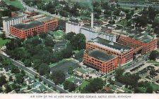 BATTLE CREEK MICHIGAN AIR VIEW OF 40 ACRE HOME OF POST CEREALS POSTCARD