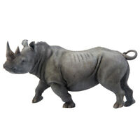 White Rhinoceros Figure Wild Animal Rhino Family Model Toy Collector Decor Gift