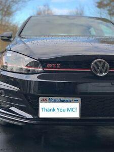 2014-2019 Volkswagen GOLF GTI mk7 mk7.5 License Plate Mounts