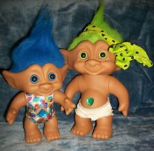 "Pair of ""Ace Novelty"" Jewel Trolls 6"" + 8"" In Good Condition"