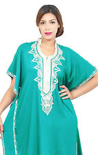 Moroccan Women Caftans Kaftans Dress Evening Party Short Sleeve Abaya Beach Robe