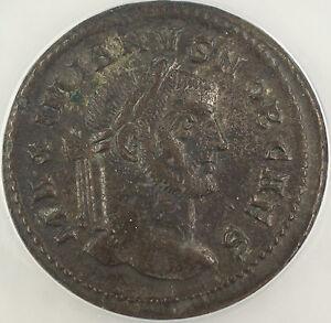 AD 295-299 Roman Follis Coin Galerius Caesar Ticinum Mint ANACS AU-50 AKR