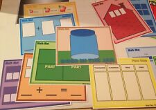 Learning Center Math Mats (13 piece set ) Laminated - Mats