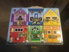 Pre Owned Melissa & Doug.Latches Board.  House.