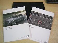 AUDI A4 S4  SALOON 2011-2014 OWNERS MANUAL HANDBOOK PACK INC RADIO REFM75