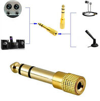 "6.5mm 1/4""Male plug to 3.5mm 1/8"" Female Jack Stereo Headphone Audio Adapter Hot"