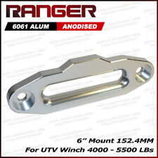 Combo RED Half-Link Safety Latch Winch Hook WLL 28,000lbs and Aluminum 8000-15000 LBs Hawse Fairlead