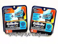 (2) Gillette Fusion PROSHIELD CHILL Refill 4 Cartridges*Original Package* #010AD
